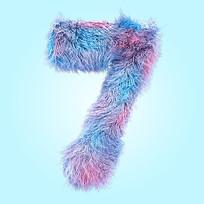 创意毛发倒计时数字7