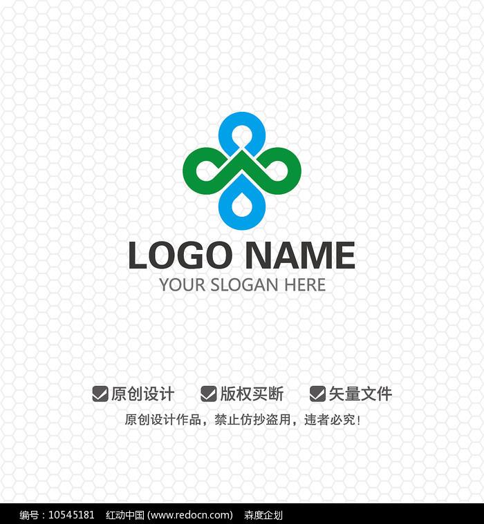 创意水滴新能源环保LOGO设计图片