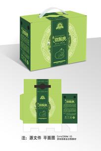 简约猕猴桃包装手提盒绿色