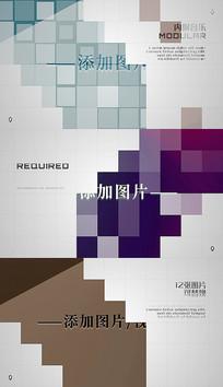 马赛克方块闪烁企业介绍商务幻灯片pr模板