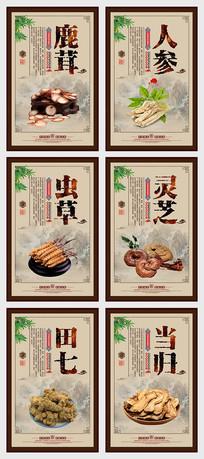 中国风中医药材文化宣传展板