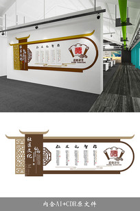 中式社区机关学校道德讲堂文化墙