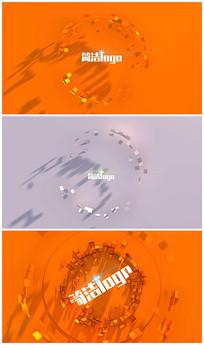简洁logo演绎视频模板