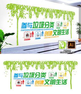 垃圾分类绿色文环保节能化墙