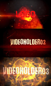 通用震撼大气火焰烟雾电影片头视频模板