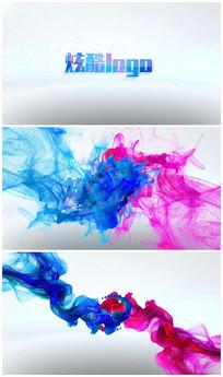 唯美炫彩粒子logo演绎 视频模板