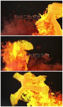 舞动奇迹火焰logo视频模板