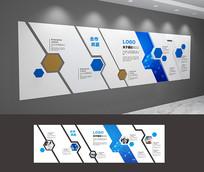 现代简约企业文化墙