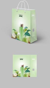 2018年绿色环保手提袋包装展开图