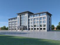 3d办公楼建筑模型