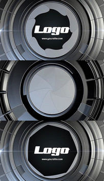 3d科技快速脉冲标志logo片头pr模板