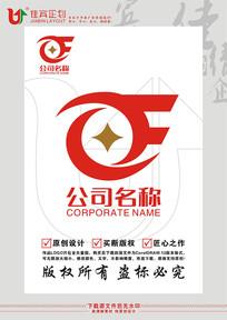 CF英文字母钱币金融标志设计