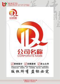 QD英文字母建筑标志设计