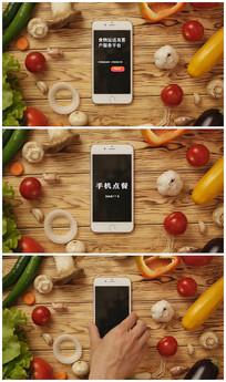 创新手机点单推广片头视频模板