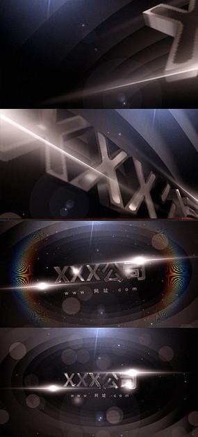 大气简约金色粒子标志AE视频模板