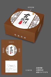 古典风格纸巾包装盒外包装设计模板