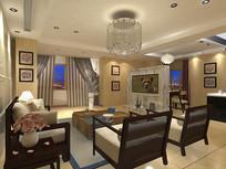 简约客厅3D模型