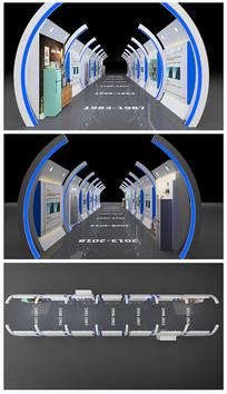 科技门头长廊隧道