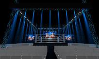 拳击竞技台3D模型