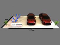 三菱汽车展示台3D模型