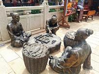 渔民打麻将雕塑 JPG