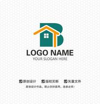 B字母房产中介LOGO设计