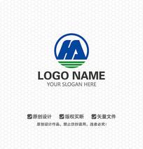 HA字母商业科技LOGO设计