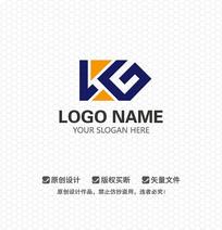 KG字母商业服务LOGO设计
