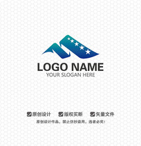 M字母影视娱乐LOGO设计