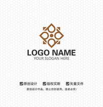 P字母地产建筑LOGO设计