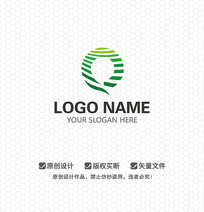 Q字母休闲娱乐LOGO设计