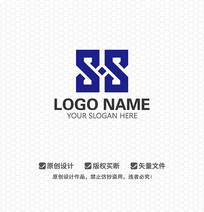 SS字母电子科技LOGO设计