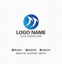 TT字母海浪LOGO设计
