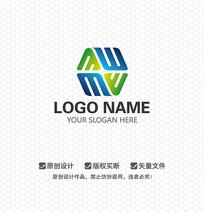 WM字母休闲娱乐LOGO设计
