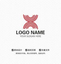 X字母文化传播LOGO设计