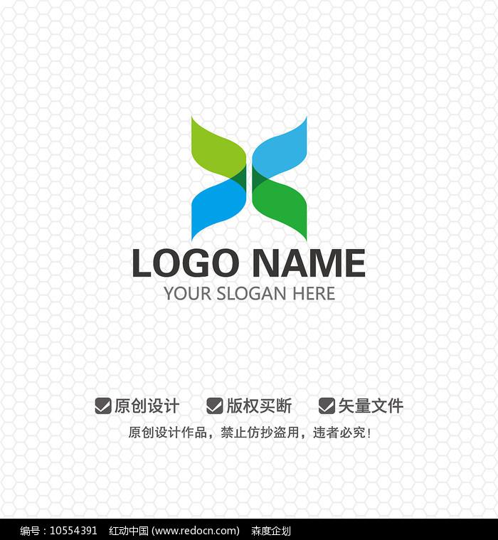 X字母文化传播商业LOGO设计图片
