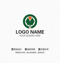树叶衣领服饰LOGO设计