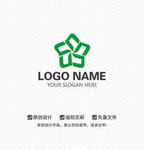 五角花瓣文化商业LOGO设计