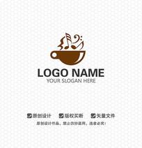 音乐咖啡休闲娱乐LOGO设计