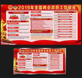 2019全国两会政府工作报告展板