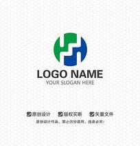 H字母商业服务LOGO设计