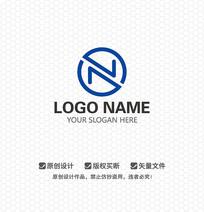 N字母商业科技LOGO设计