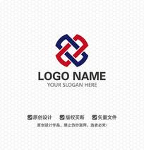X字母商业科技LOGO设计