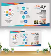 创意企业发展企业文化展板