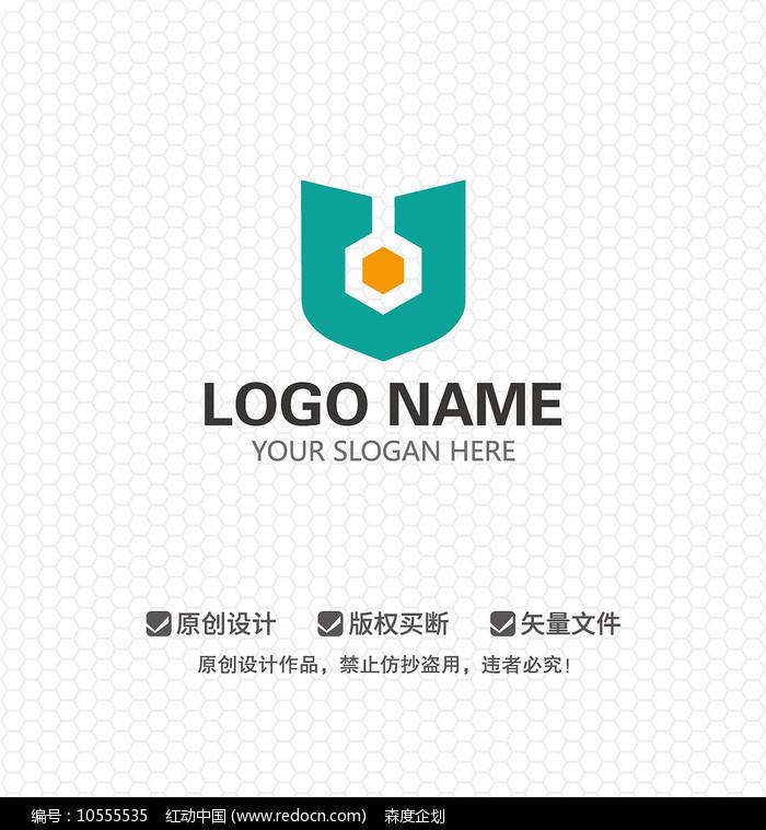 盾牌锁具公司LOGO设计图片