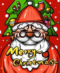原创圣诞老人插画