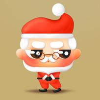 原创元素立体可爱的圣诞老人