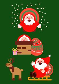 原创元素圣诞老人