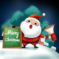 原创元素圣诞小黑板老人
