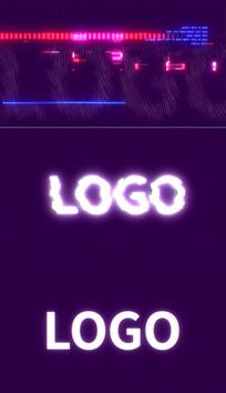 4K抖音简洁快速街故障logo视频模板